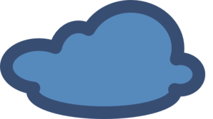 Cloud Blue Modified D  Clip Art