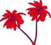 Red And Blue Palm Trees Clip Art