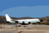 An U.s. Air Force Rc-135v/w Rivet Assigned To The 95th Reconnaissance Squadron Lands At U.s. Naval Support Activity Souda Bay Clip Art