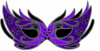 Purple Mask-masquerade Clip Art