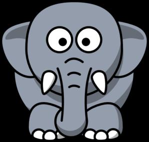 gray elephant clip art at clker com vector clip art online rh clker com elephant clip art black and white elephant clip art black and white