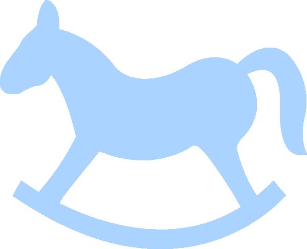 Blue Rocking Horse Clip Art at Clker.com - vector clip art online ...