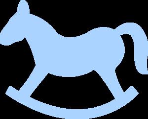 blue rocking horse clip art at clker com vector clip art online rh clker com baby rocking horse clipart baby rocking horse clipart