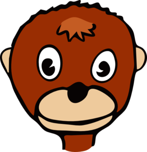 Cartoon Monkey Face Clip Art