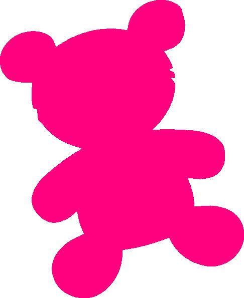 Bear pink. Magenta clip art at