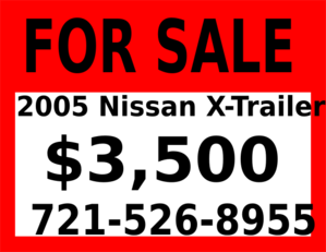 For Sale Sign Clip Art