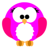 Pink Robin Cartoon Clip Art
