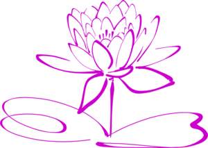 Medium Purple Lotus Clip Art