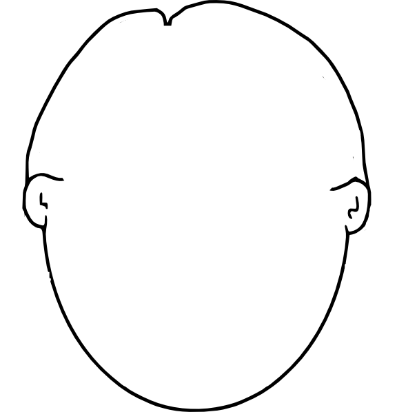 blank face coloring page | Kindergarten | Pinterest ...