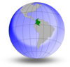 Colombia On The Globe Clip Art