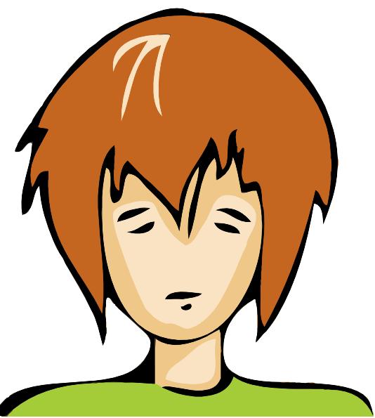 sad person clip art at clkercom vector clip art online