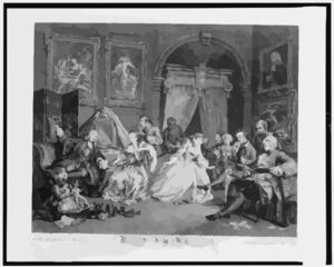 Marriage à La Mode--the Toilette Scene  / Invented Painted & Published By Wm. Hogarth ; Engraved By S. Ravenet. Clip Art