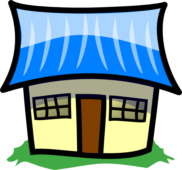 clip art blue house - photo #47