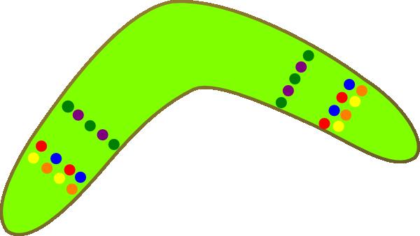 Green Boomerang Clip Art at Clker.com - vector clip art online ...