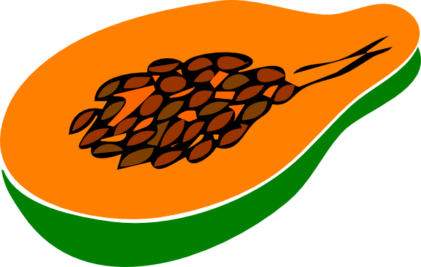 papaya clipart - photo #11