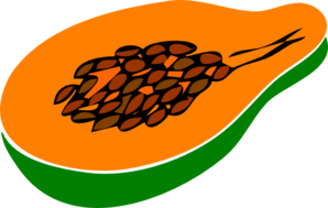 Papaya Halved Clip Art