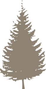 Taupe Pine Tree Clip Art