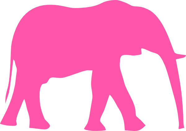 pink elephant clip art at clker com vector clip art online rh clker com  decorated indian elephant clipart