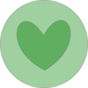 Heart In Circle Green Clip Art