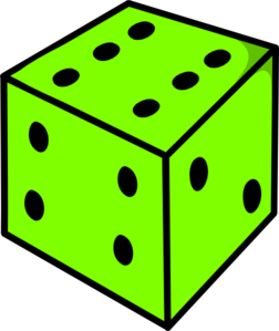 Green Dice Clip Art at Clker.com - vector clip art online, royalty ...