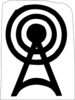 Radio Tower Logo Punkrock Clip Art