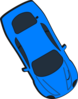 Blue Car - Top View - 300 Clip Art