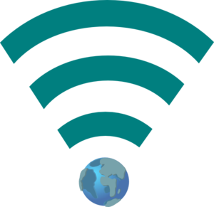 Green Wifi Link With Earth Clip Art