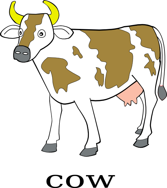 cow clipart simple - photo #17