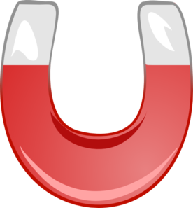 Horseshoe red. Magnet clip art at