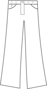 Pants Black And White Clip Art