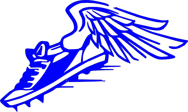 winged foot blue and white clip art at clker com vector clip art rh clker com track winged foot logo track winged foot logo
