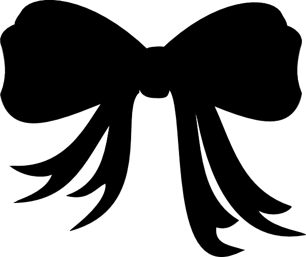 Black Bow Clip Art at Clker.com - vector clip art online, royalty free ...