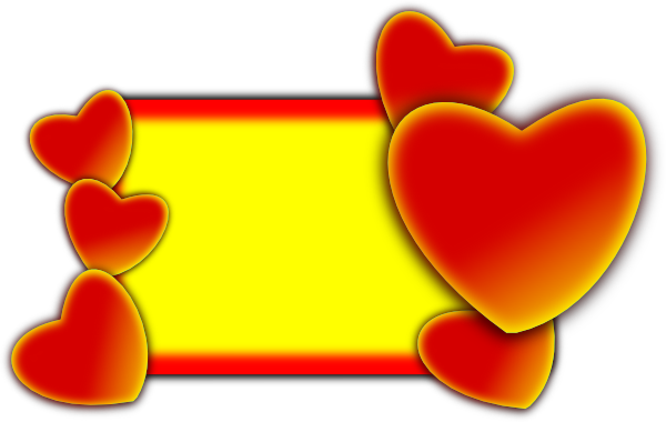 Hearts Love Frame clip art