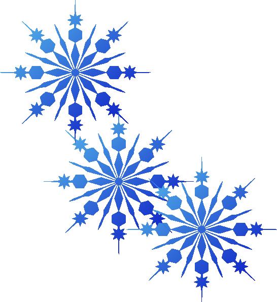 Snowflakes Blue Clip Art At Clker Com Vector Clip Art