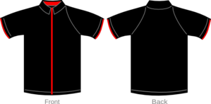 Shirt Black With Red Zipper Clip Art