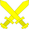 Yellow Crossed Swords Clip Art