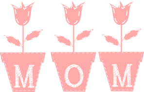 Mom Tulips Clip Art