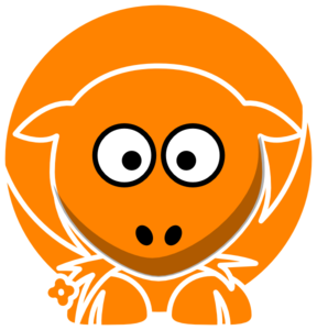 Orange Sheep Clip Art