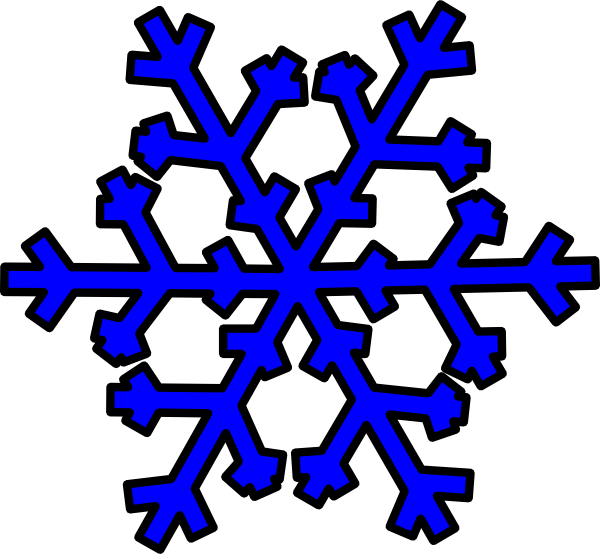 Blue snowflake clip art at clker vector