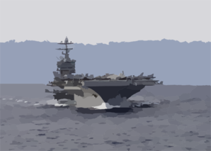Harry S. Truman Departs Souda Bay Clip Art