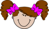 Girl And Bows Clip Art