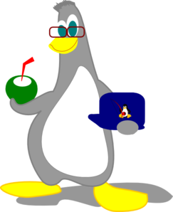Penguin With Drink Clip Art