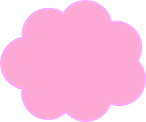 Pink Thought Bubble4 Clip Art