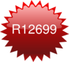 R12699 Red Star Price Tag Clip Art