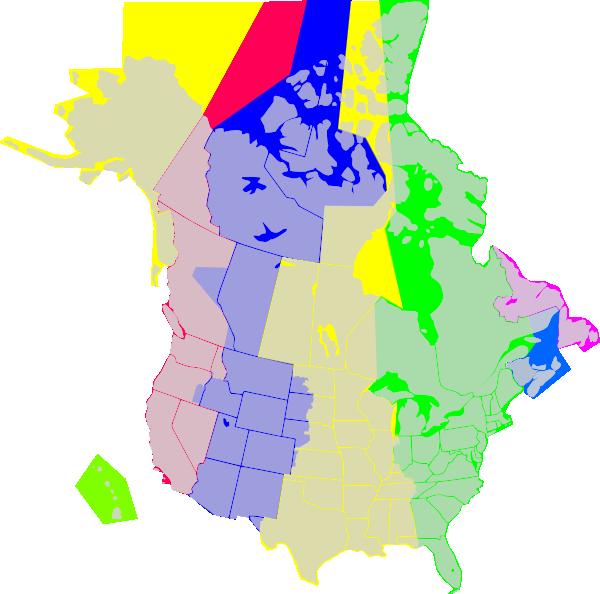 clipart map north america - photo #44