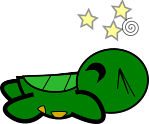 Turtle Stunned Clip Art