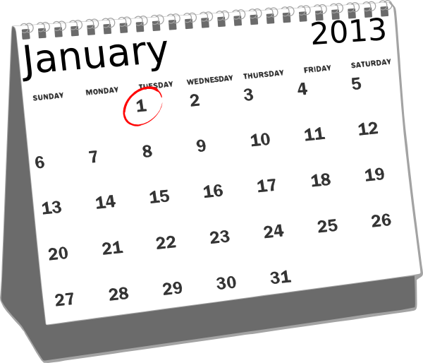 Clip Art Calendar January : January desk calendar clip art at clker vector