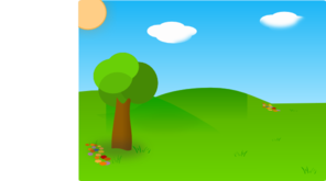 Cartoon Landscape Clip Art