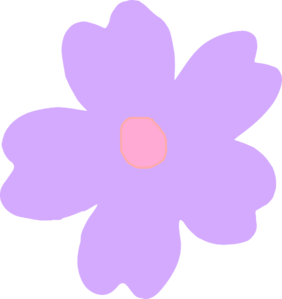 Purple And Pink Flower Clip Art