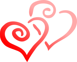 Pair Of Hearts Clip Art